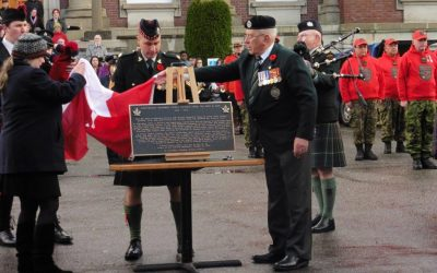 Bronze Commemoration Plaque – Lt Col Cyrus W. Peck, VC DSO and Bar