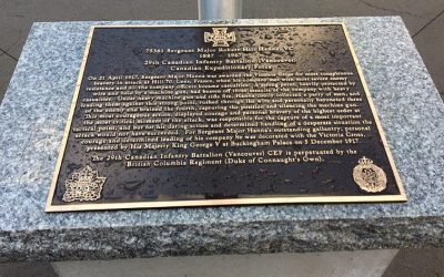 Bronze Commemoration Plaque – CSM Robert H. Hanna, VC DSO and Bar