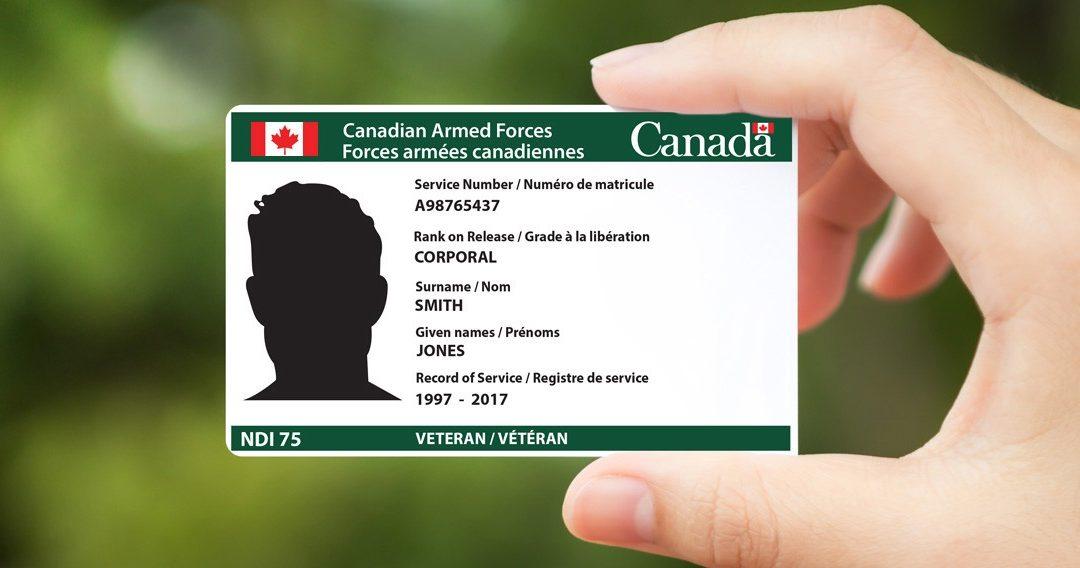 DND Announces Availability of New Veteran's Service Card
